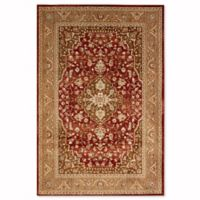 Mohawk Home Kham Vine Medallion 5-Foot 3-Inch x 7-Foot 9-Inch Area Rug in Cranberry