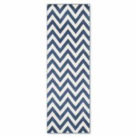 Safavieh Amherst 2-Foot 3-Inch x 9-Foot Chevy Area Rug in Navy