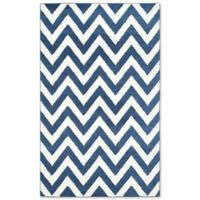 Safavieh Amherst 4-Foot x 6-Foot Chevy Area Rug in Navy