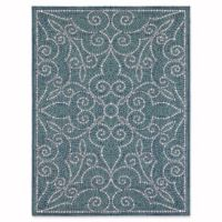 Mosaic Tile 8-Foot x 10-Foot Indoor/Outdoor Area Rug in Blue