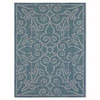 Mosaic Tile 9-Foot x 12-Foot Indoor/Outdoor Area Rug in Blue