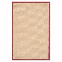 Safavieh Natural Fiber Willow 2-Foot x 3-Foot Accent Rug in Maize/Burgundy