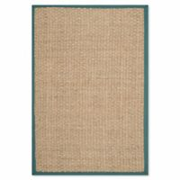 Safavieh Natural Fiber Johanna 3-Foot x 5-Foot Accent Rug in Natural/Light Blue