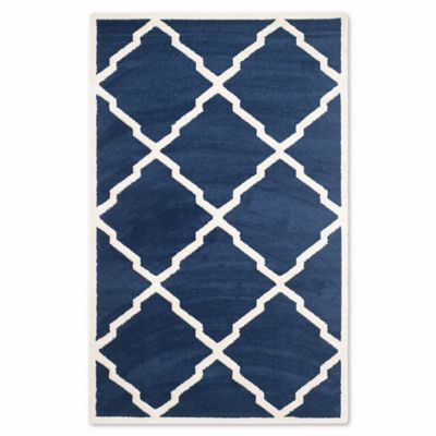 Safavieh Amherst 4 Foot X 6 Foot Festival Area Rug In Navy
