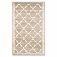 Safavieh Amherst Quine 3-Foot x 5-Foot Indoor/Outdoor Area Rug in Wheat