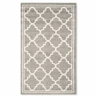Safavieh Amherst Quine 3-Foot x 5-Foot Indoor/Outdoor Area Rug in Dark Grey
