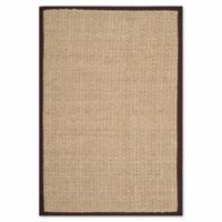 Safavieh Natural Fiber Johanna 4-Foot x 6-Foot Area Rug in Natural/Dark Brown
