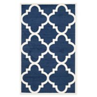 Safavieh Amherst 4-Foot x 6-Foot Geo Area Rug in Navy