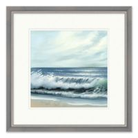 Crashing Waves 2 Wall Art with Silver Frame