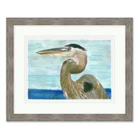 Watercolor Egret 2 Framed Wall Art