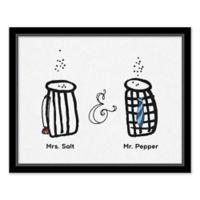 Mrs. Salt and Mr. Pepper Wall Art