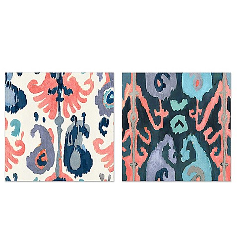 Ikat I Canvas Wall Art Collection - Bed Bath & Beyond