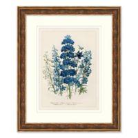 Blue Florals 1 Framed Botanical Print Wall Art