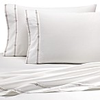 Coastal Life Luxe 300-Thread-Count Rope Queen Sheet Set in Taupe/White