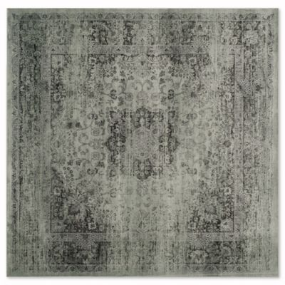 Safavieh Vintage Palace 6 Foot Square Area Rug In Spruce/Ivory