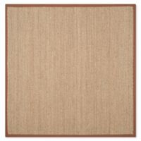 Safavieh Natural Fiber 6-Foot Square Mackenzie Area Rug in Natural/Brown