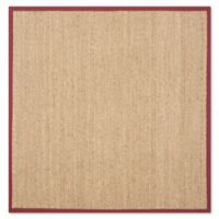 Safavieh Natural Fiber 8-Foot Square Mackenzie Area Rug in Natural/Red