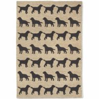 Liora Manne Front Porch Doggies 7-Foot 6-Inch x 9-Foot 6-Inch Indoor/Outdoor Area Rug in Black