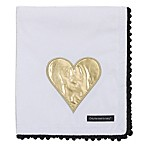 NoJo® XOXO Plush Blanket in White/Gold