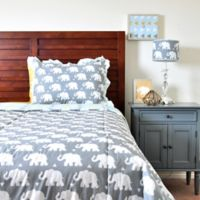 Pam Grace Creations Indie Elephant Twin Quilt Set in Mint