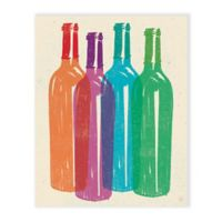 """Astra """"Bottles"""" Canvas 16-Inch x 20-Inch Wall Art"""