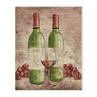 Vintage Grapes and Wine 16-Inch x 20-Inch Canvas Wall Art