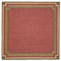 Liora Manne Ravella 8-Foot Square Indoor/Outdoor Area Rug in Red