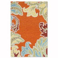 Liora Manne Ornamental Leaf 2-Foot x 3-Foot Accent Rug in Orange
