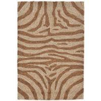 Liora Manne Zebra 2-Foot x 3-Foot Indoor/Outdoor Accent Rug in Brown