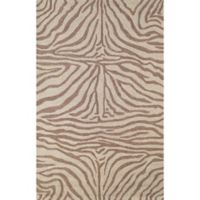 Liora Manne Zebra 3-Foot 6-Inch x 5-Foot 6-Inch Indoor/Outdoor Accent Rug in Brown