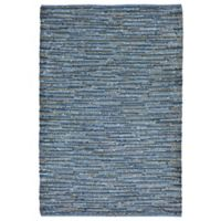 Liora Manne Sahara 3-Foot 5-Inch x 5-Foot 5-Inch Indoor/Outdoor Accent in Blue