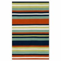 Liora Manne Sorrento 3-Foot 6-Inch x 5-Foot 6-Inch Indoor/Outdoor Accent Rug in Tribeca Navy