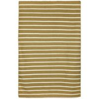 Liora Manne Sorrento Pinstripe 3-Foot 6-Inch x 5-Foot 6-Inch Indoor/Outdoor Area Rug in Khaki