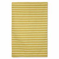 Liora Manne Sorrento Pinstripe 5-Foot x 7-Foot 6-Inch Indoor/Outdoor Area Rug in Yellow