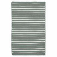 Liora Manne Sorrento Pinstripe 5-Foot x 7-Foot 6-Inch Indoor/Outdoor Area Rug in Grey