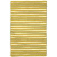 Liora Manne Sorrento Pinstripe 7-Foot 6-Inch x 9-Foot 6-Inch Indoor/Outdoor Area Rug in Yellow