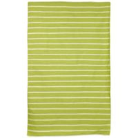 Liora Manne Sorrento Pinstripe 7-Foot 6-Inch x 9-Foot 6-Inch Indoor/Outdoor Area Rug in Lime