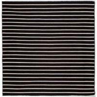 Liora Manne Sorrento Pinstripe 8-Foot x 8-Foot Square Indoor/Outdoor Area Rug in Black