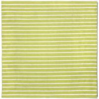 Liora Manne Sorrento Pinstripe 8-Foot x 8-Foot Square Indoor/Outdoor Area Rug in Lime