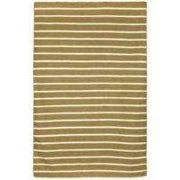 Liora Manne Sorrento Pinstripe 8-Foot 3-Inch x 11-Foot 6-Inch Indoor/Outdoor Area Rug in Khaki