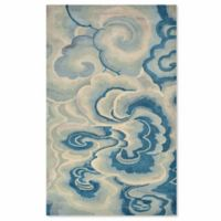 Liora Manne Fuji Cloud 5-Foot x 8-Foot Area Rug in Blue
