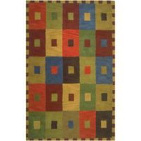 Liora Manne Inca 3-Foot 6-Inch x 5-Foot 6-Inch Squares Rug