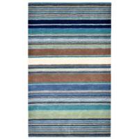 Liora Manne Inca Stripes 3-Foot 5-Inch x 5-Foot 5-Inch Accent Rug in Blue Multi