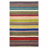 Liora Manne Inca Stripes 5-Foot x 8-Foot Accent Rug in Red Multi