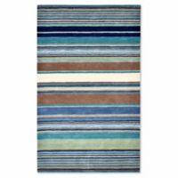 Liora Manne Inca Stripes 5-Foot x 8-Foot Accent Rug in Blue Multi
