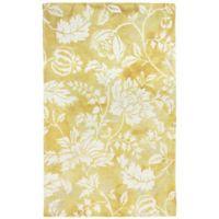 Liora Manne 3-Foot 6-Inch x 5-Foot 6-Inch Jadu Floral Accent Rug in Gold