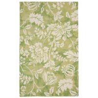 Liora Manne 3-Foot 6-Inch x 5-Foot 6-Inch Jadu Floral Accent Rug in Sage