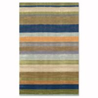 Liora Manne Oslo Stripes 5-Foot x 7-Foot 6-Inch Area Rug in Ocean