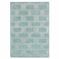 Liora Manne Roma Boxes 9-Foot x 12-Foot Area Rug in Aqua