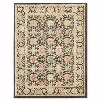 mohawk home mechi 8foot x 10foot area rug in black - Mohawk Area Rugs